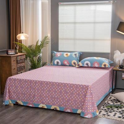 2019新款21支磨毛生态全棉系列-单床单 180cmx230cm 掌上乐园