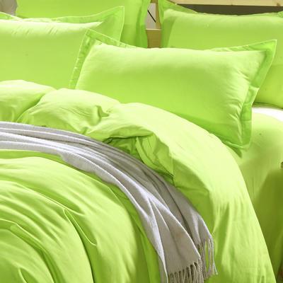 2019新款纯色双拼系列单品枕套 48cmX74cm/对 纯色果绿