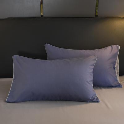 2019新款纯色双拼系列单品枕套 48cmX74cm/对 烟熏紫