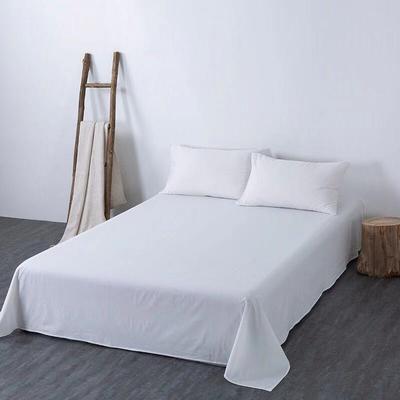 2019新款纯色双拼系列单品床单 160cmx230cm 本白色