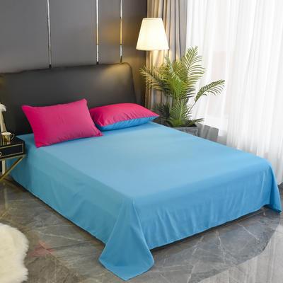 2019新款纯色双拼系列单品床单 160cmx230cm 玫红蓝