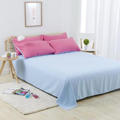 2019新款纯色双拼系列单品床单 160cmx230cm 胭脂蓝