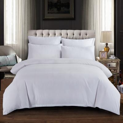 2019新款纯色双拼系列四件套 1.0m床单款三件套 本白色