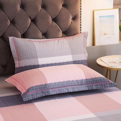 2020新款21支加厚全棉生态磨毛系列单枕套 48cmX74cm/对 方圆相融