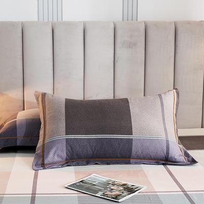 2020新款21支加厚全棉生态磨毛系列单枕套 48cmX74cm/对 凯蒂