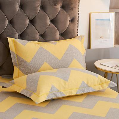2020新款21支加厚全棉生态磨毛系列单枕套 48cmX74cm/对 孟菲斯
