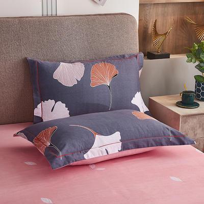 2020新款21支加厚全棉生态磨毛系列单枕套 48cmX74cm/对 亭香夜影