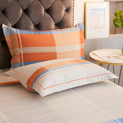 2020新款21支加厚全棉生态磨毛系列单枕套 48cmX74cm/对 小城故事