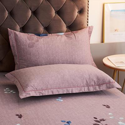 2020新款21支加厚全棉生态磨毛系列单枕套 48cmX74cm/对 约定-豆沙
