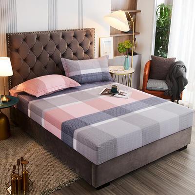 2020新款21支加厚全棉生态磨毛系列单床笠 150cmx200cm 方圆相融