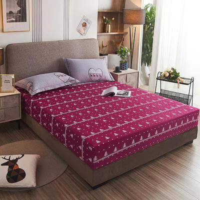 2020新款21支加厚全棉生态磨毛系列单床笠 150cmx200cm 花语浪漫