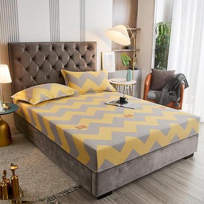 2020新款21支加厚全棉生态磨毛系列单床笠 150cmx200cm 孟菲斯