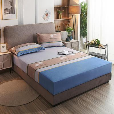2020新款21支加厚全棉生态磨毛系列单床笠 150cmx200cm 蒲公英
