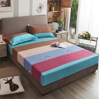 2020新款21支加厚全棉生态磨毛系列单床笠 150cmx200cm 幸运彩虹