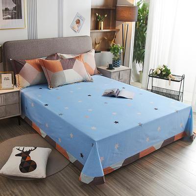 2020新款21支加厚全棉生态磨毛系列单床单 250*250cm圆角包边床单 多彩阁-桔