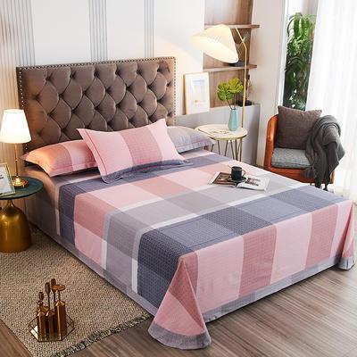 2020新款21支加厚全棉生态磨毛系列单床单 250*250cm圆角包边床单 方圆相融