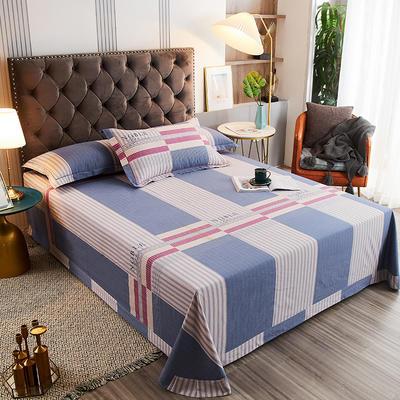 2020新款21支加厚全棉生态磨毛系列单床单 250*250cm圆角包边床单 格调时光