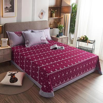 2020新款21支加厚全棉生态磨毛系列单床单 250*250cm圆角包边床单 花语浪漫