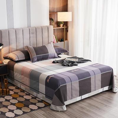 2020新款21支加厚全棉生态磨毛系列单床单 250*250cm圆角包边床单 凯蒂