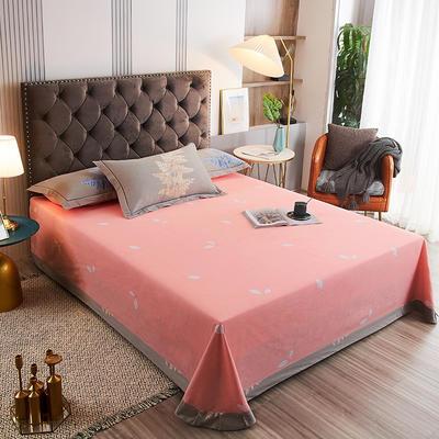 2020新款21支加厚全棉生态磨毛系列单床单 250*250cm圆角包边床单 兰芝梦
