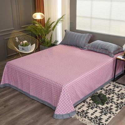 2020新款21支加厚全棉生态磨毛系列单床单 250*250cm圆角包边床单 翩翩彩带