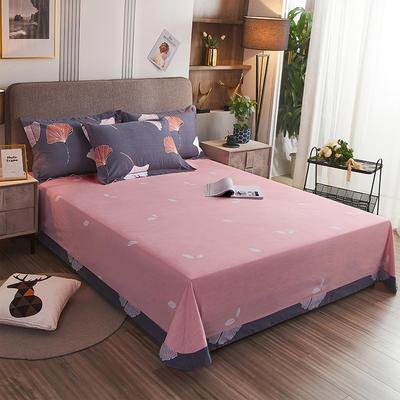 2020新款21支加厚全棉生态磨毛系列单床单 250*250cm圆角包边床单 亭香夜影