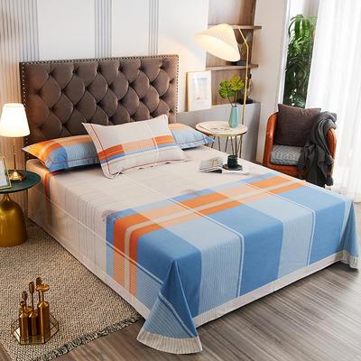 2020新款21支加厚全棉生态磨毛系列单床单 250*250cm圆角包边床单 小城故事