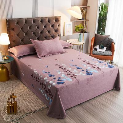 2020新款21支加厚全棉生态磨毛系列单床单 250*250cm圆角包边床单 约定-豆沙