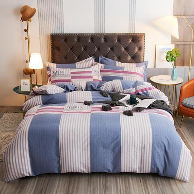 2020新款21支加厚全棉生态磨毛系列四件套(单品均可售) 1.5m床单款四件套 格调时光