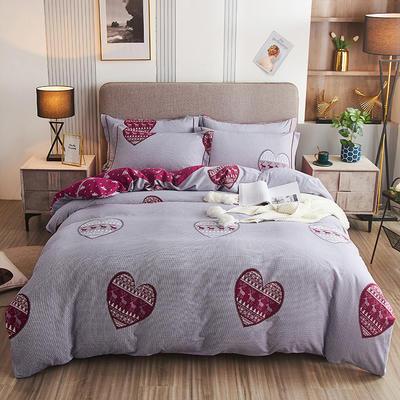 2020新款21支加厚全棉生态磨毛系列四件套(单品均可售) 1.5m床单款四件套 花语浪漫