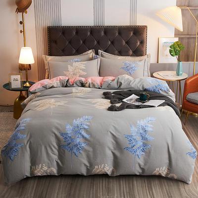 2020新款21支加厚全棉生态磨毛系列四件套(单品均可售) 1.5m床单款四件套 兰芝梦
