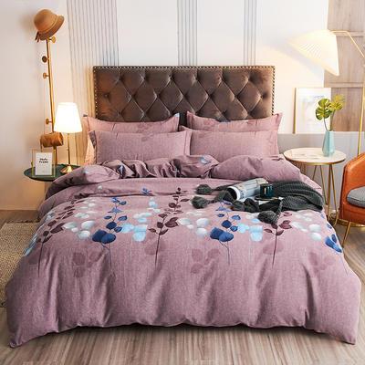 2020新款21支加厚全棉生态磨毛系列四件套(单品均可售) 1.5m床单款四件套 约定-豆沙
