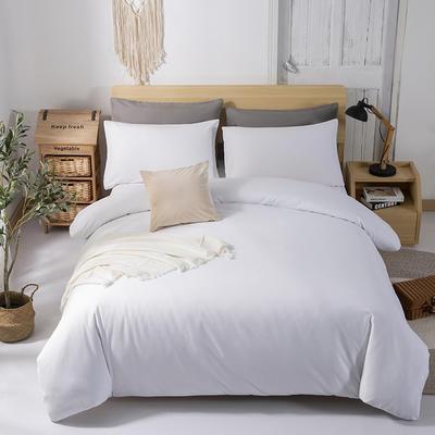 2019新款纯色双拼系列四件套 1.2m床单款四件套 白色