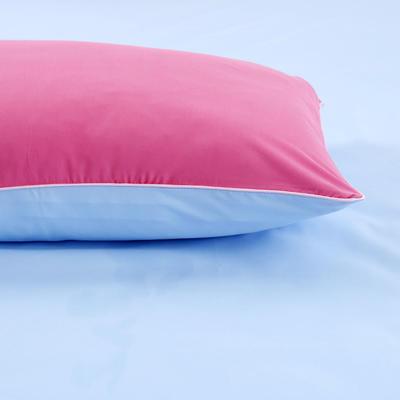 2019新款纯色双拼系列单品枕套 48cmX74cm/对 胭脂蓝