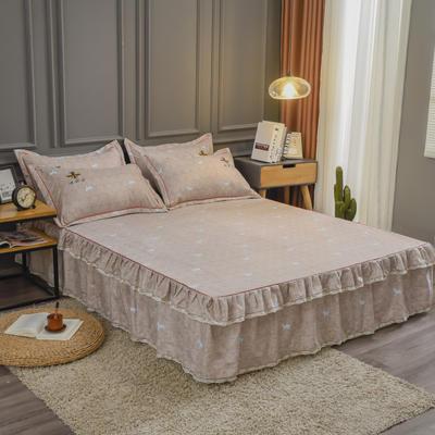 2020新款铂金棉床裙系列单床裙 150cmx200cm 卡洛斯-米驼