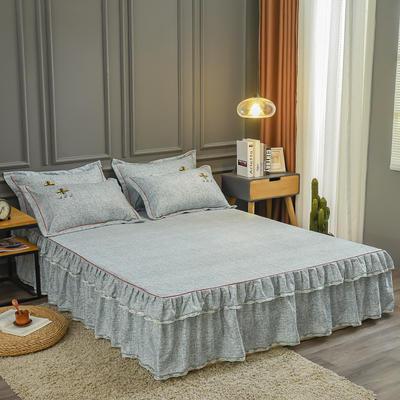 2020新款铂金棉床裙系列单床裙 150cmx200cm 卡洛斯-嫩绿