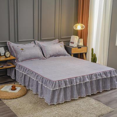 2020新款铂金棉床裙系列单床裙 150cmx200cm 卡洛斯-烟紫