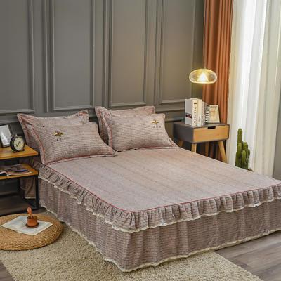 2020新款铂金棉床裙系列单床裙 150cmx200cm 卡洛斯-棕榈咖