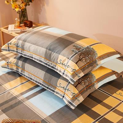 2021新款加厚全棉印花系列单枕套 48cmX74cm/对 格林春天