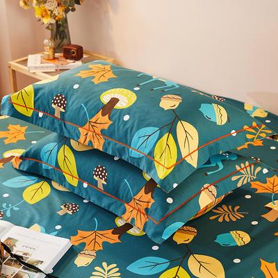 2021新款加厚全棉印花系列单枕套 48cmX74cm/对 可爱鹿西 兰