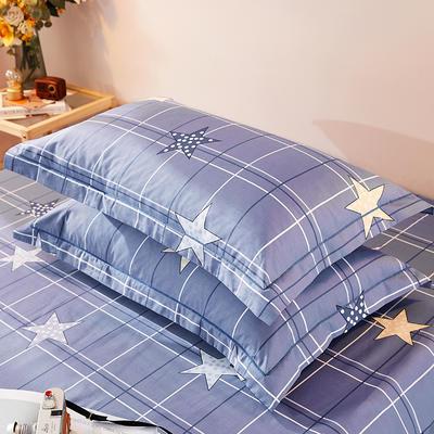 2021新款加厚全棉印花系列单枕套 48cmX74cm/对 理想家