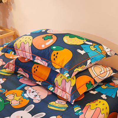 2021新款加厚全棉印花系列单枕套 48cmX74cm/对 魔力宝贝 灰
