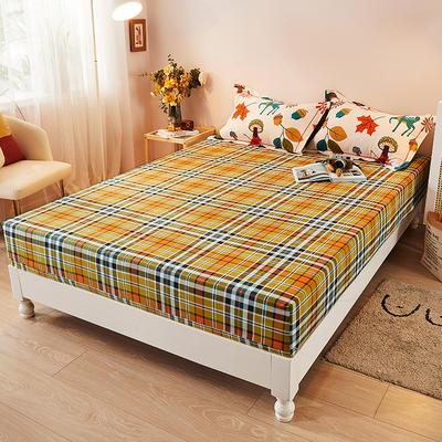 2021新款加厚全棉印花系列单床笠 150cmx200cm 可爱鹿西 米白