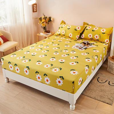 2021新款加厚全棉印花系列单床笠 150cmx200cm 你的微笑-黄