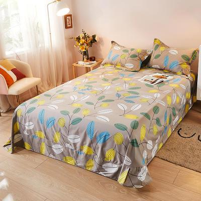 2021新款加厚全棉印花系列单床单 245cmx250cm 活力青春 咖