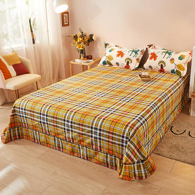2021新款加厚全棉印花系列单床单 245cmx250cm 可爱鹿西 米白