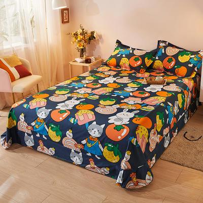 2021新款加厚全棉印花系列单床单 245cmx250cm 魔力宝贝 灰