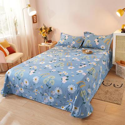 2021新款加厚全棉印花系列单床单 245cmx250cm 舒雅风情 兰