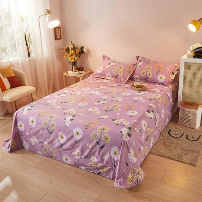 2021新款加厚全棉印花系列单床单 245cmx250cm 舒雅风情 紫