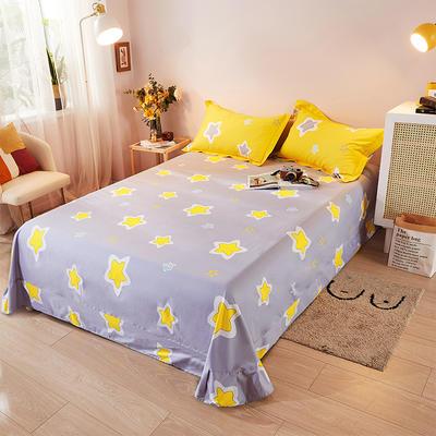 2021新款加厚全棉印花系列单床单 245cmx250cm 夏日童话 黄